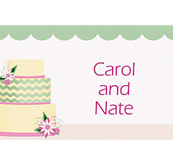 Custom Modern Wedding Cake Wedding Thank You Notes