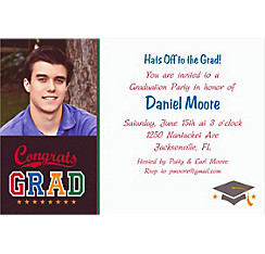 Custom Made The Grade Graduation Photo Invitations