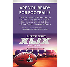 NFL Super Bowl Custom Invitation