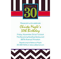 30th Celebration Custom Invitation