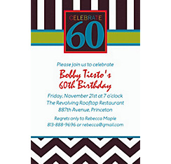 60th Celebration Custom Invitation