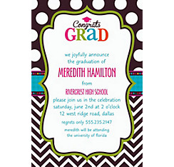 Bright Congrats Grad Custom Invitation