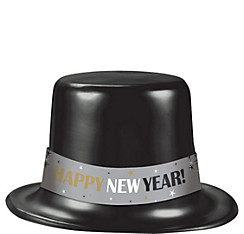 Classic Black New Year's Top Hat