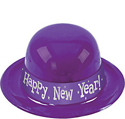 Purple Happy New Year Derby Hat