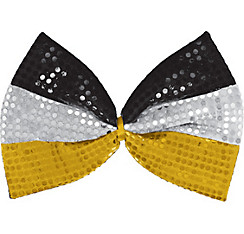 Sequin Black, Silver & Gold Bow Tie