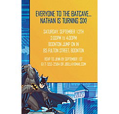 Batman Core Custom Invitation