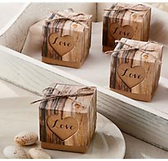 Quick Shop Rustic Tree Favor Boxes