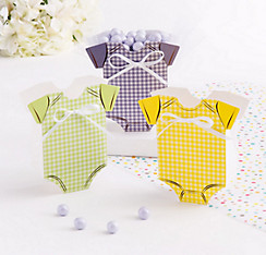 Onesie Baby Shower Favor Boxes 24ct