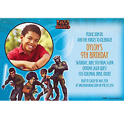 Star Wars Rebels Custom Photo Invitation