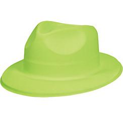 Neon Green Plastic Fedora