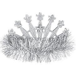 Silver Star Tinsel Tiara