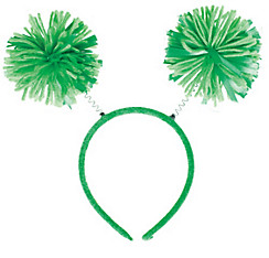 Green Pom-Pom Head Bopper