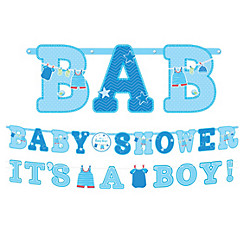 Boy Baby Shower Banners 2ct - Shower With Love