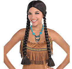 Native American Black Braids Wig