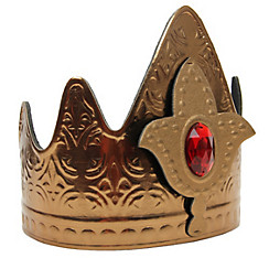 Red Jeweled Gold Queen Crown