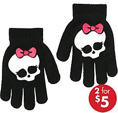 Child Monster High Skullette Gloves