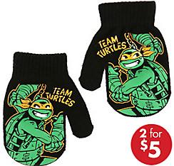 Child Michelangelo Mittens - Teenage Mutant Ninja Turtles