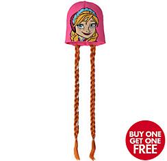 Child Anna Beanie with Braids - Frozen