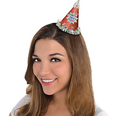 Glitter Red Happy New Year Mini Party Hat