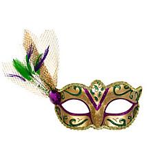 Glitter Gold Mardi Gras Masquerade Mask