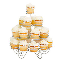 4-Tier Silver Wire Cupcake Stand