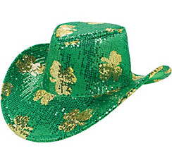 Sequin Shamrock Cowboy Hat