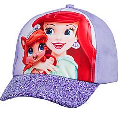 Child Glitter Treasure & Ariel Baseball Hat - Disney Princess Palace Pets