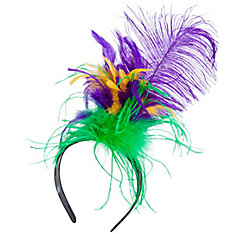 Feather Mardi Gras Headband