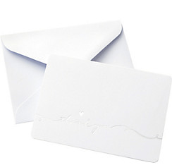 Metallic Silver Love Thank You Notes 50ct