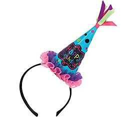 Bright Polka Dot Birthday Party Hat Headband