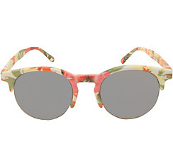 Colorful Floral Half Frame Sunglasses