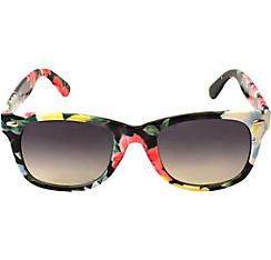 Black Floral Sunglasses