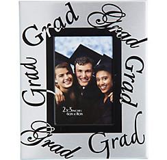Mini Silver Graduation Photo Frame