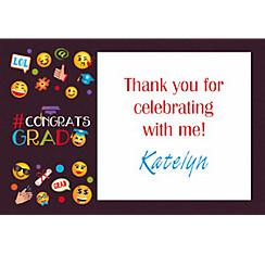Custom Smiley Graduation Thank You Note