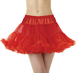 Red Full Petticoat Plus Size