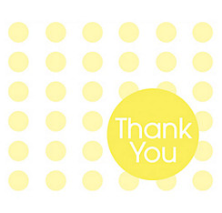 Yellow Polka Dot Thank You Notes 8ct