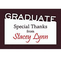 Custom Graduate White Slant Thank You Note