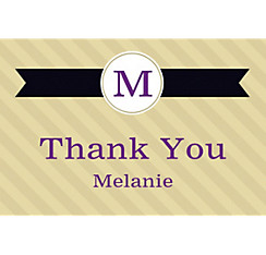 Custom Neutral Initial Graduation Thank You Note