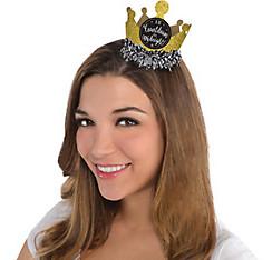 Black, Gold & Silver Mini Glitter Crown