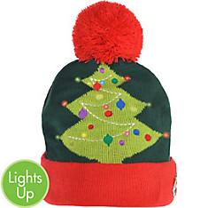 Light-Up Christmas Tree Beanie