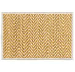 White Chevron Bamboo Placemat