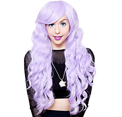 Curly Lavender Cosplay Wig