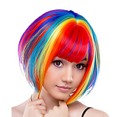 Bob Rainbow Cosplay Wig