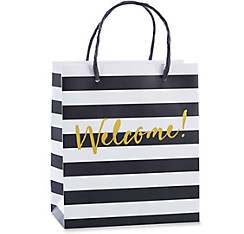 Black & White Striped Welcome Gift Bags