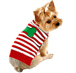 Candy Cane Dog Sweater