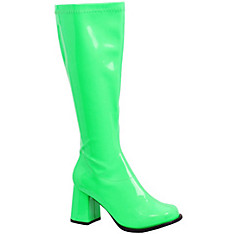 Adult Neon Green Go-Go Boots