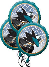 San Jose Sharks 3 Pack Balloons- 18in   SAN JOSE SHARKS ...
