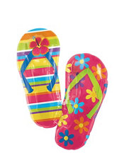 Foil Flip Flop Balloon 33in