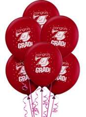 Berry Graduation Balloons 20ct