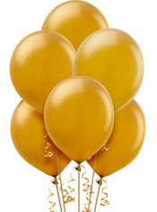 Gold Pearlized Latex Balloons 12in 10ct